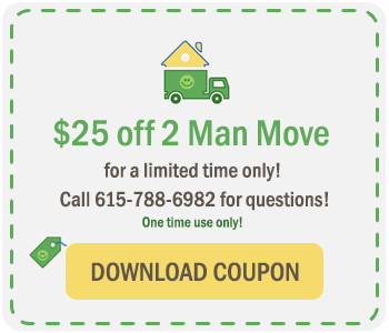 $25 off 2 man move coupon at The Green Truck Moving & Storage Company