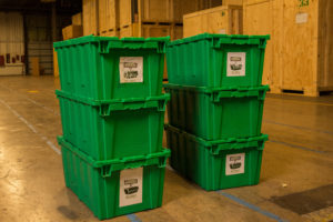 eco-crammers eco-friendly alternative to cardboard boxes at The Green Truck Moving & Storage Company