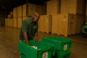 Packing an eco-crammer at The Green Truck Moving & Storage Company