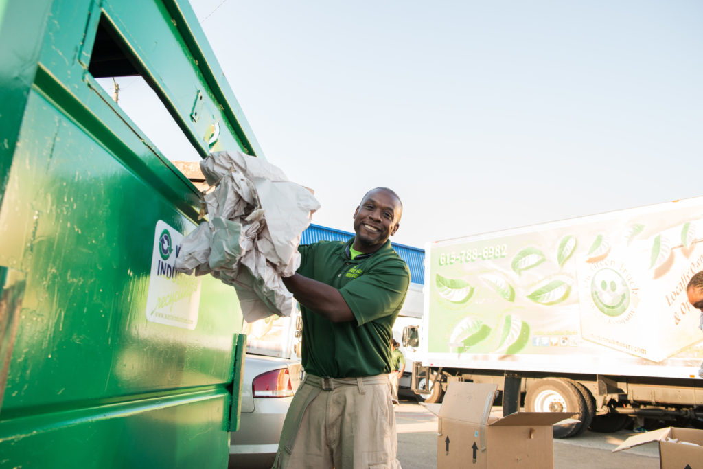 recycling at The Green Truck Moving & Storage Company
