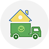 move my home icon at The Green Truck Moving & Storage Company