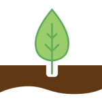 Tree soil icon The Green Truck Moving & Storage Company