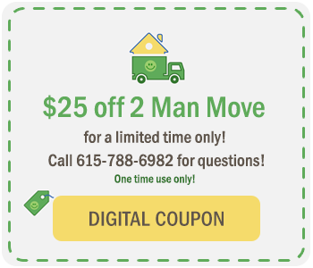 $25 off at The Green Truck Moving & Storage